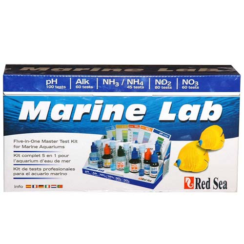 Набор тестов RED SEA NH3/NO2/NO3/pH для моря Marine Lab