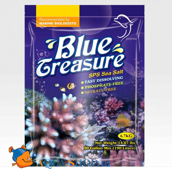 Соль BLUE TREASURE SPS Sea Salt 6,7кг.пакет