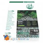 "Грунт Dennerle Nature Gravel ""River L"" гравий натуральный 8-12  мм,5 кг"