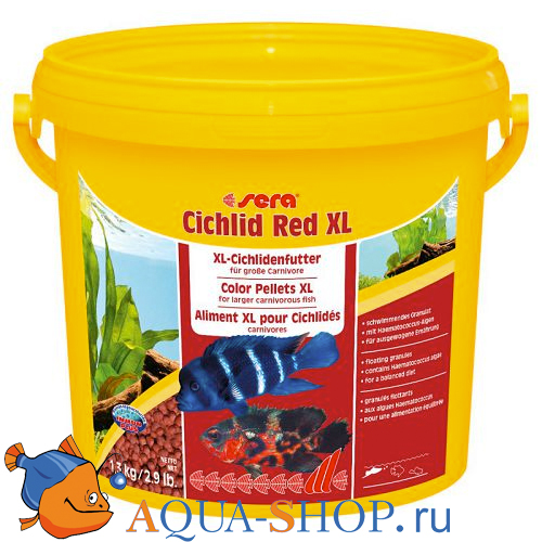 Корм Sera для рыб CICHLID RED XL 3,8 л