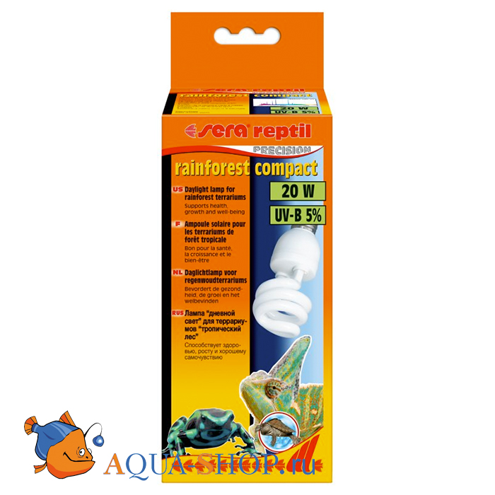 Лампа Sera reptil rainforest compact UV-B 5% 20w